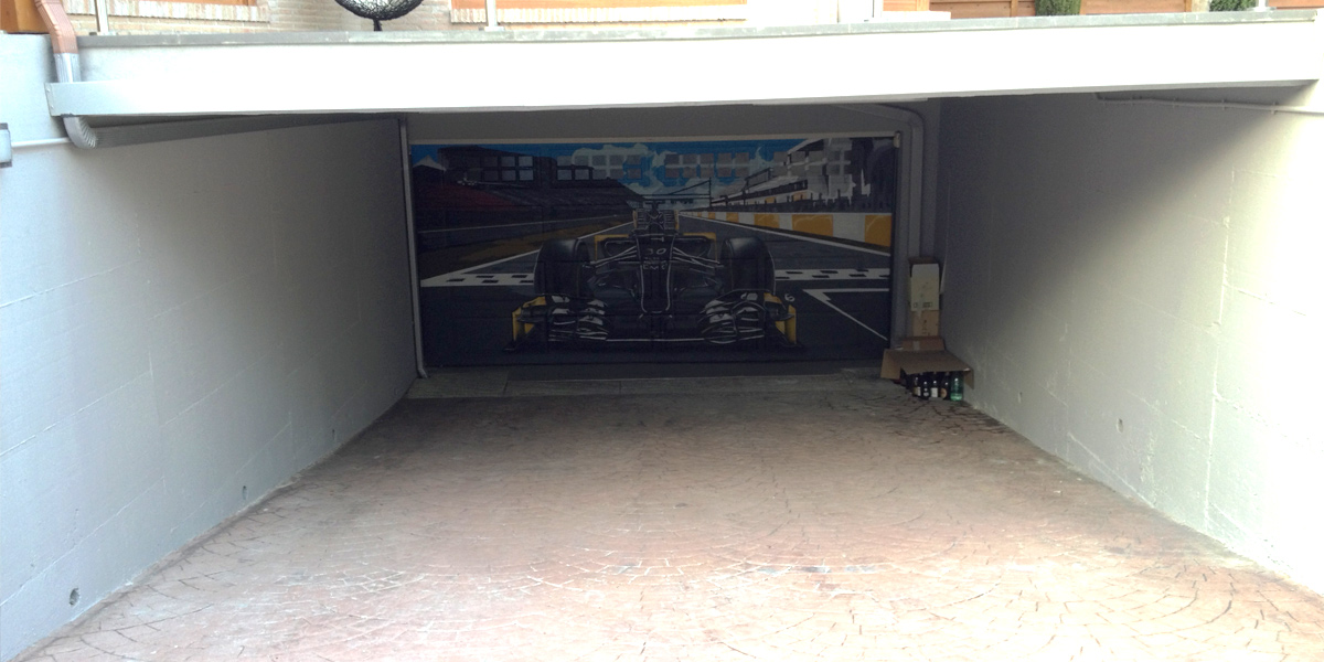 Graffiti Formula 1 en Madrid