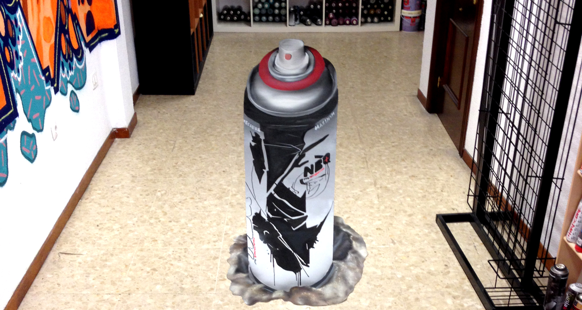 Dibujo 3D de spray NBQ