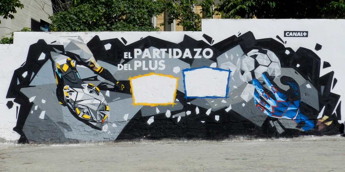 Graffiti profesional para Canal Plus