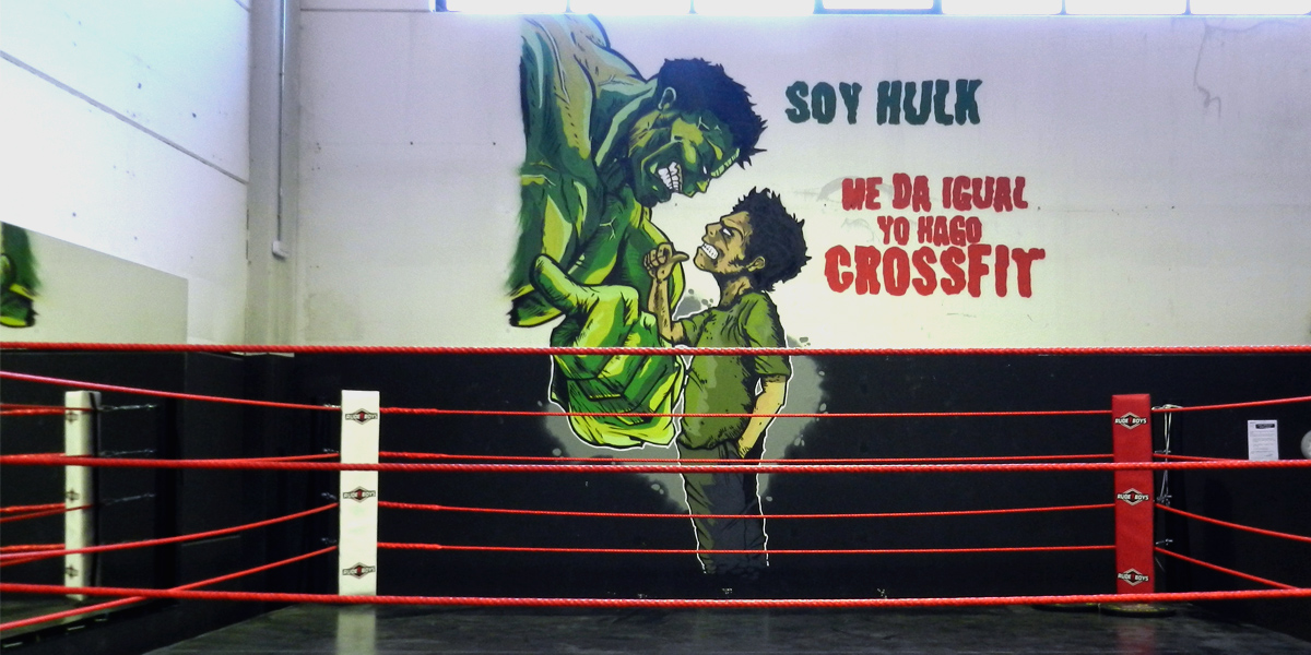 Graffiti de Hulk en Box de Madrid