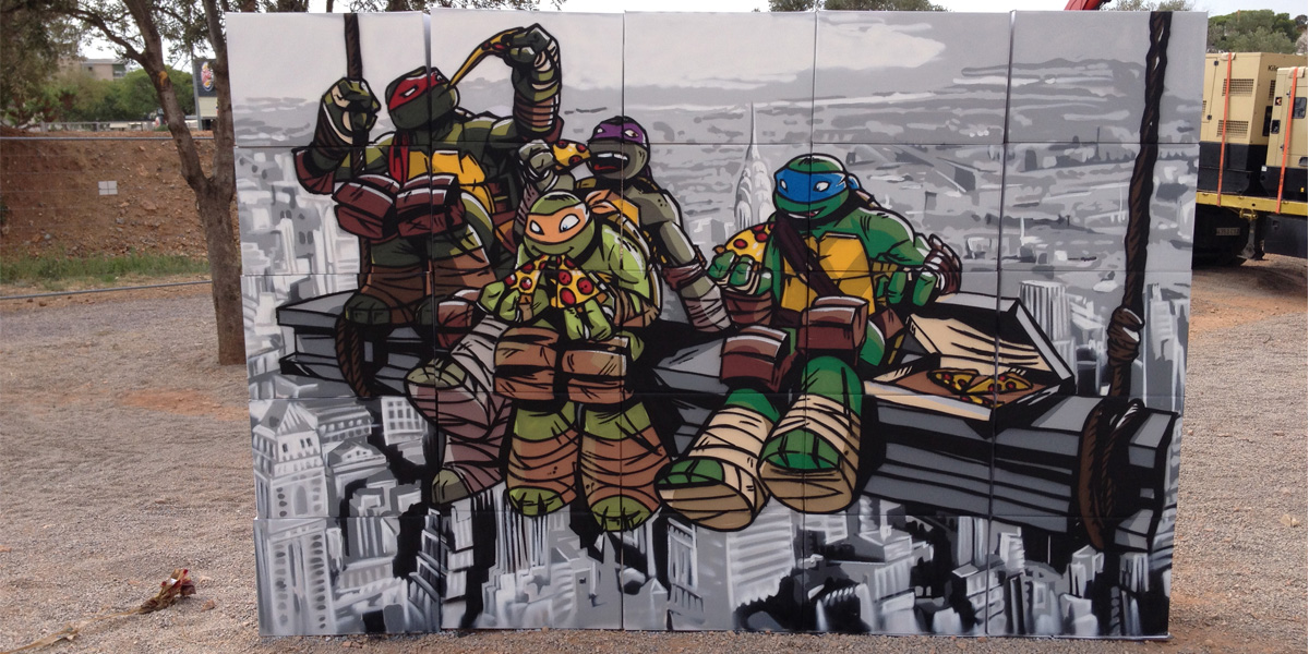 Mural de las tortugas ninja en el Slime Fest