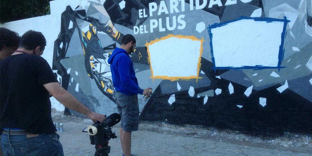 Grafitero profesional para televisión