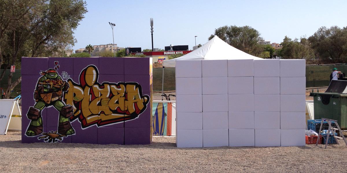 Graffiti en directo en Slime Fest 2016