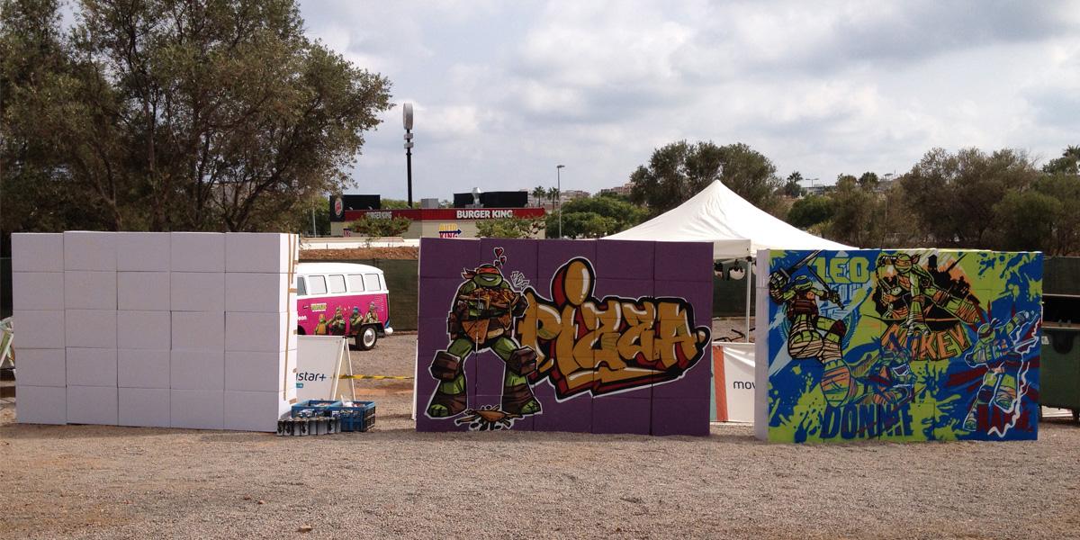 Graffiti en vivo en Slime Fest para Niceklodeon