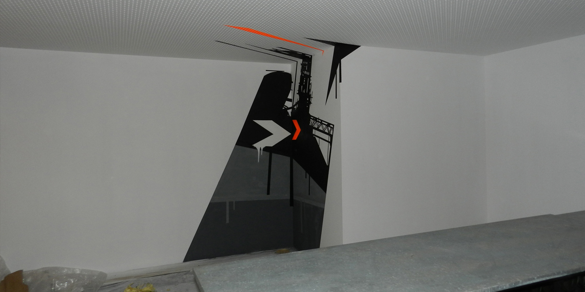 Graffiti anamórfico en IFEMA Madrid