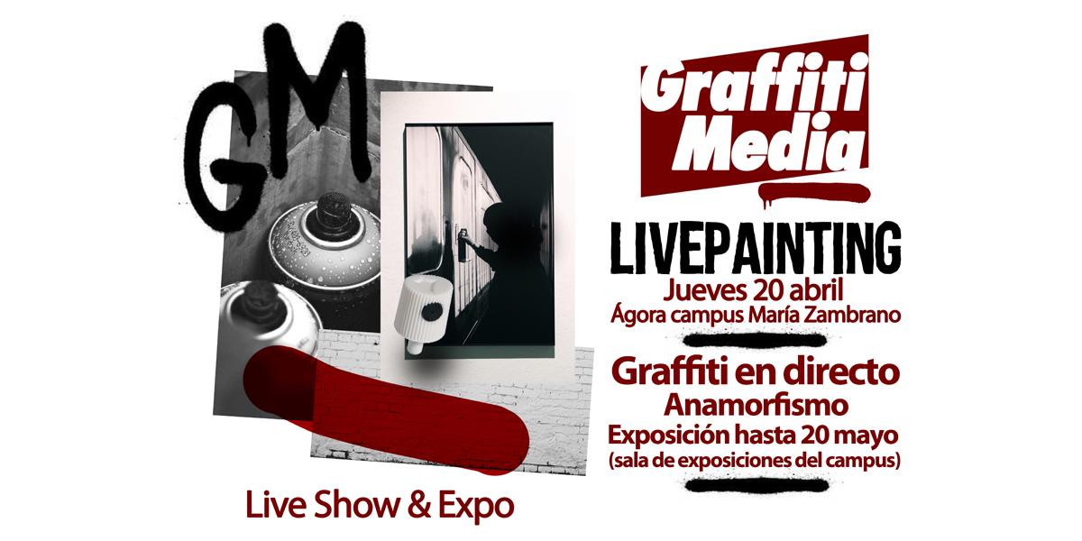 Graffiti profesional en directo en la UVa (Segovia)