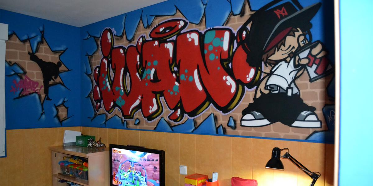 Graffiti profesional con el nombre de Ivan