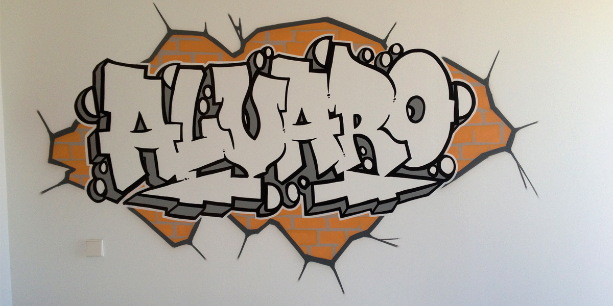 Graffiti de Álvaro en habitación de Segovia
