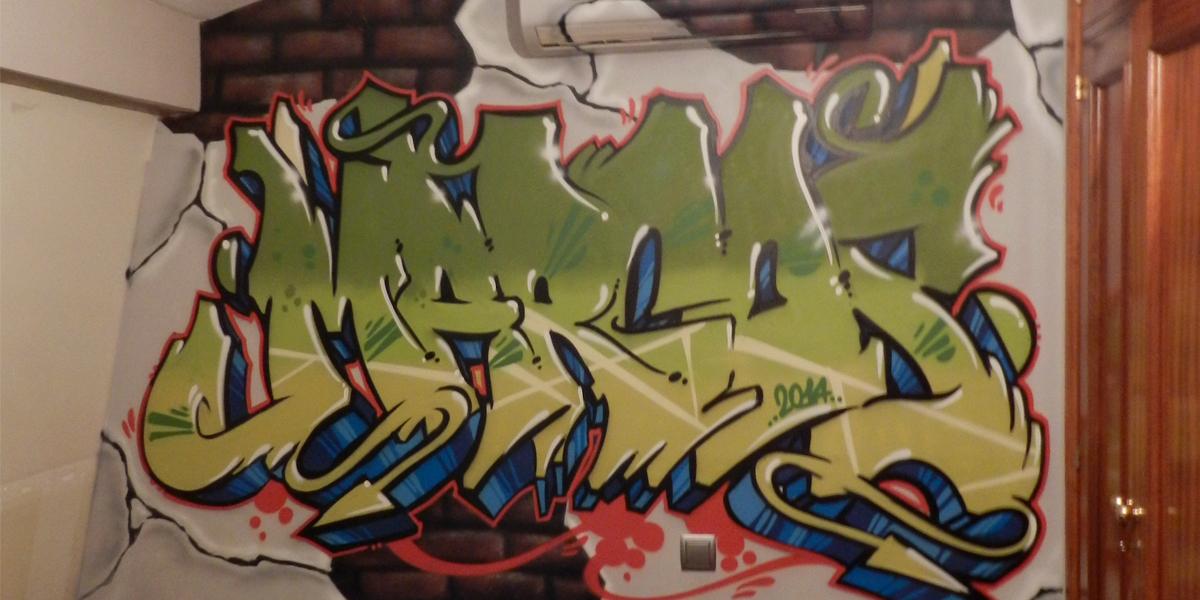 Graffiti profesional con el nombre de Marcos