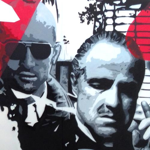 Graffiti de Marlon Brando y Robert De Niro