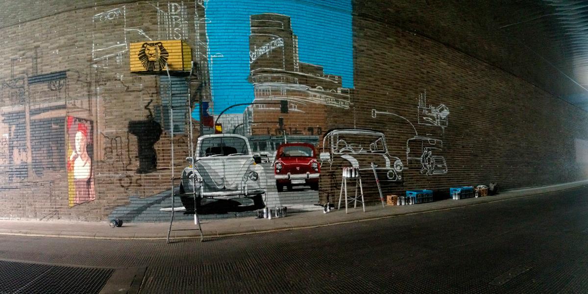 Proceso de graffiti de la Gran Vía de Madrid