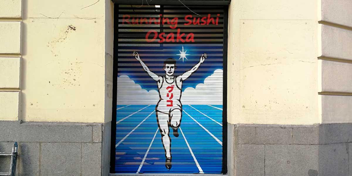Graffiti en cierre de Osaka.