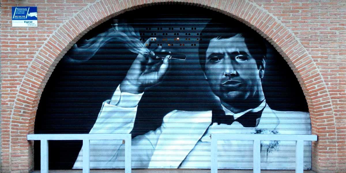 Graffiti de Scarface en cierre.
