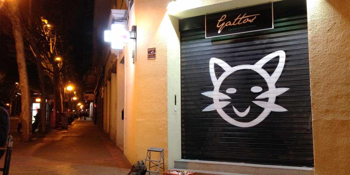 Cierre metálico con graffiti profesional.