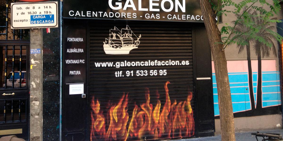 Graffiti de fuego en cierre de Madrid.