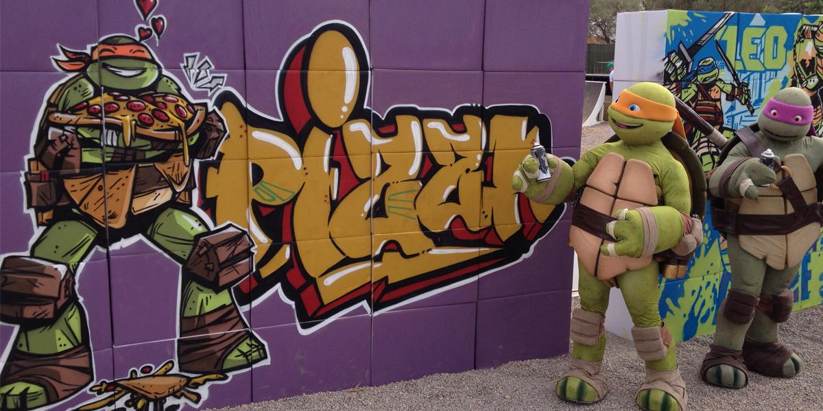 Graffiti en directo de las Tortugas Ninja