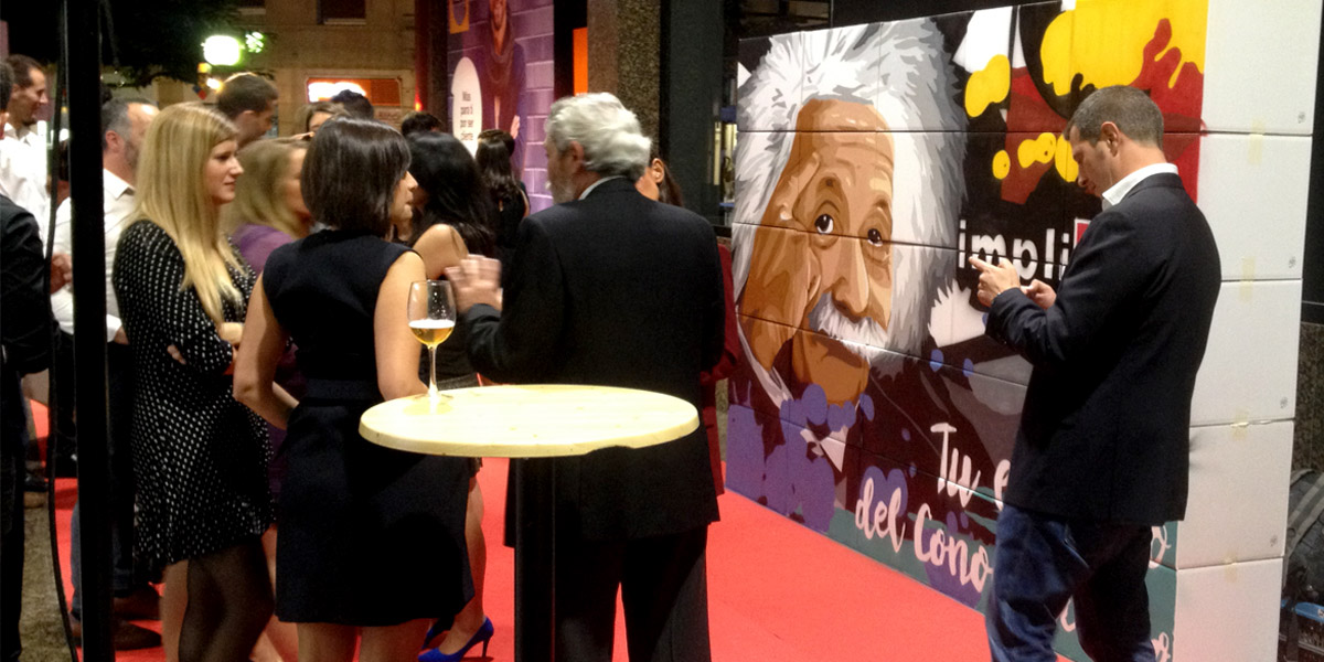 Graffiti pintado en directo en evento en Bilbao.
