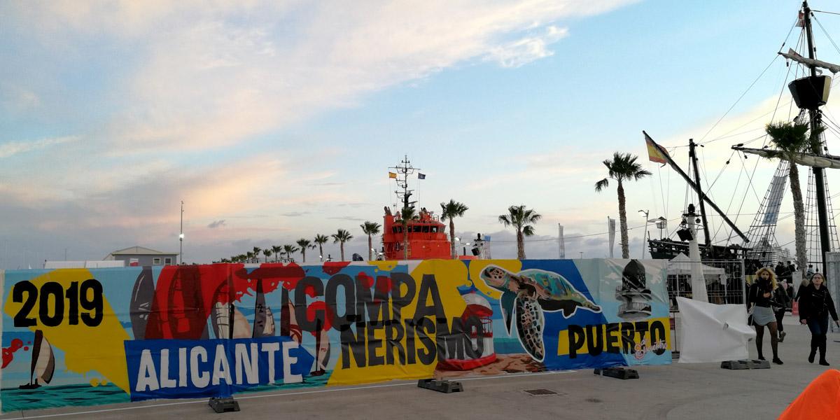 Graffiti pintado en directo en evento.