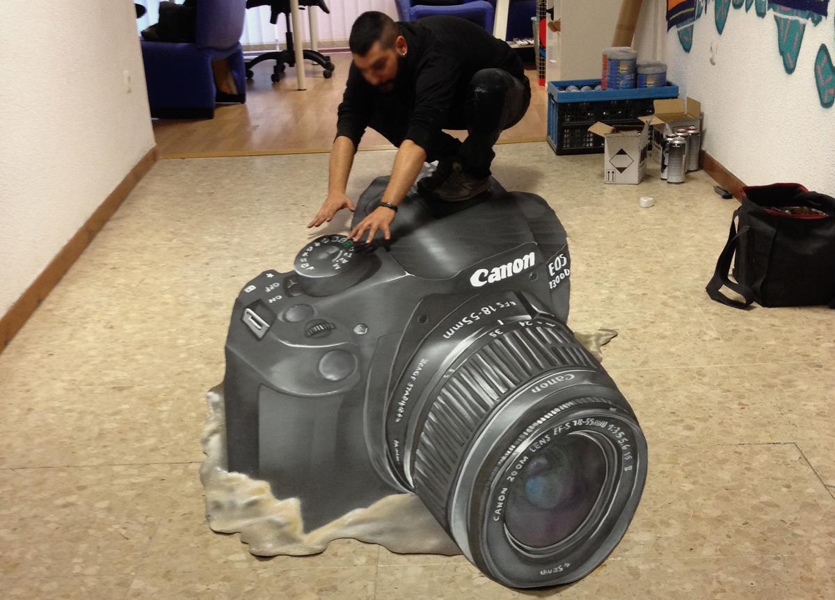 Graffiti anamórfico Canon EOS 1300D