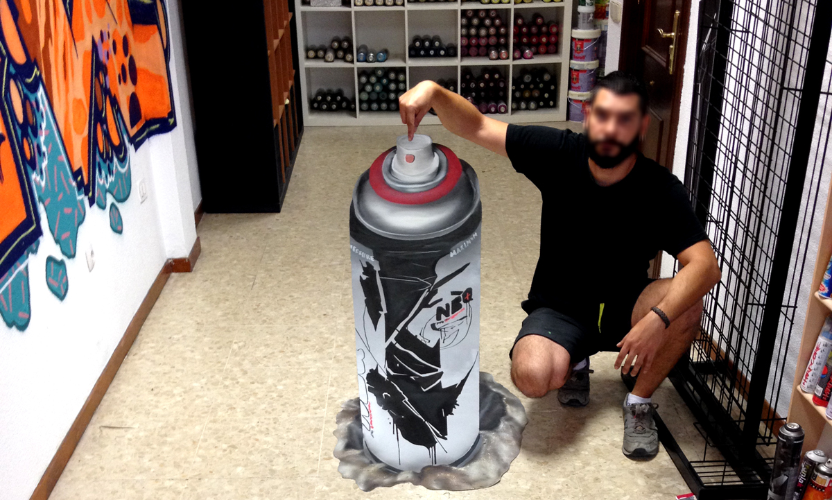 Graffiti 3D de spray NBQ