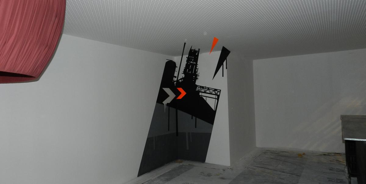 Mural 3D en pared y techo
