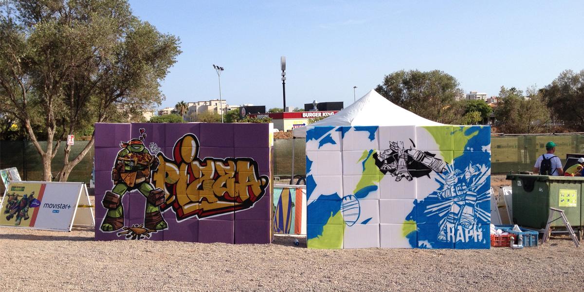 Live Painting de graffiti en el Slime Fest