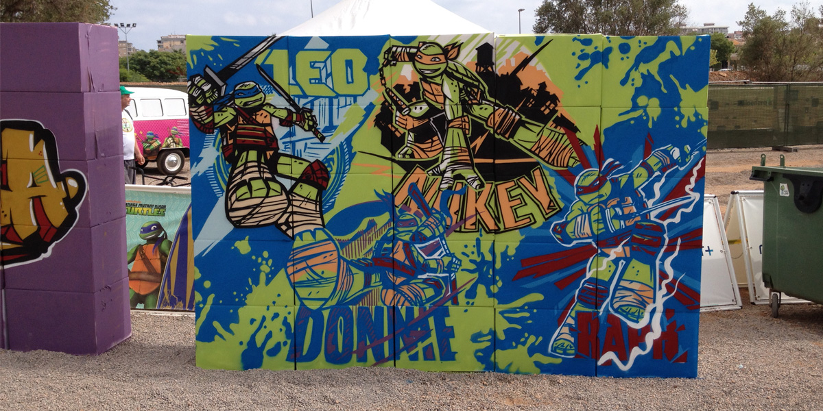 Graffiti en evento de Nickelodeon
