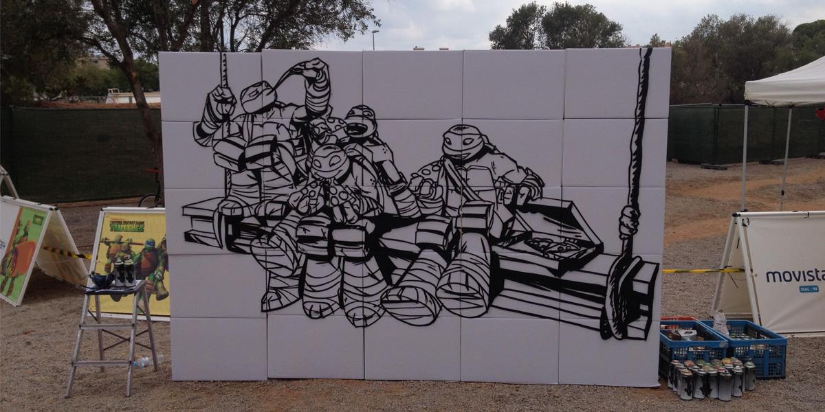 Graffiti profesional en evento de Nickelodeon