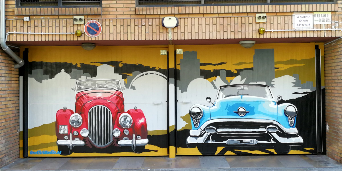 Graffiti profesional de coche en Valencia.
