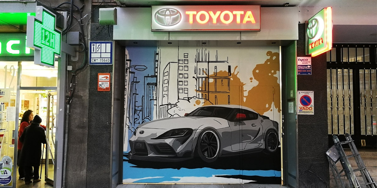 Graffiti para Toyota Madrid.