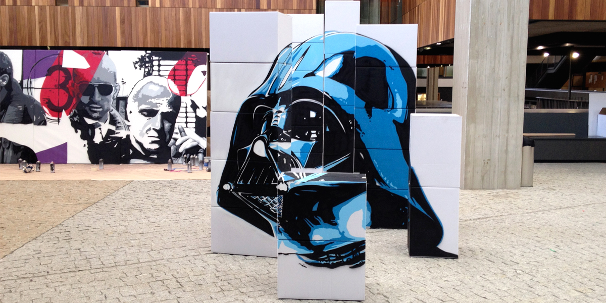 Graffiti en directo de Star Wars