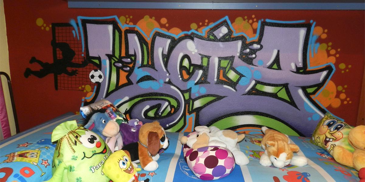 Graffiti profesional con el nombre de Lucía en Madrid