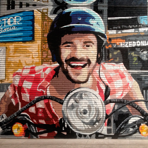 Graffiti profesional de motorista