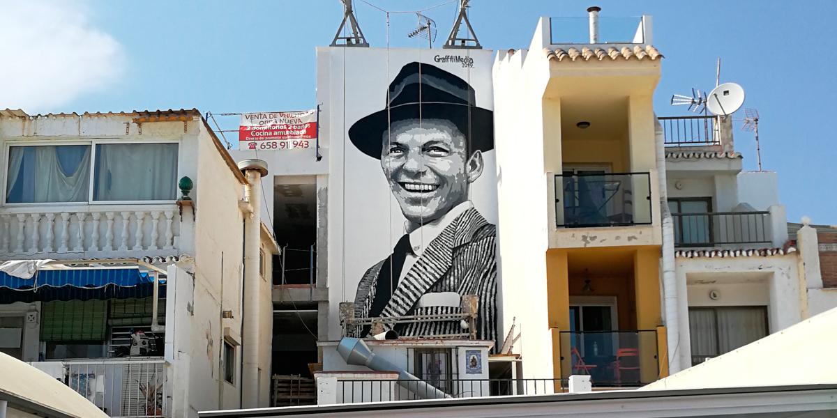 Mural de retrato de Frank Sinatra