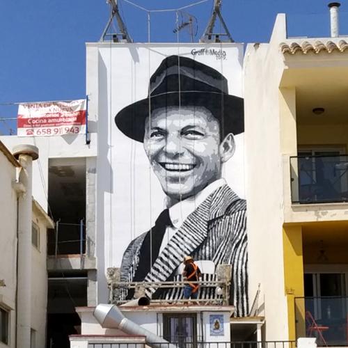 Mural homenaje a Frank Sinatra en Torremolinos