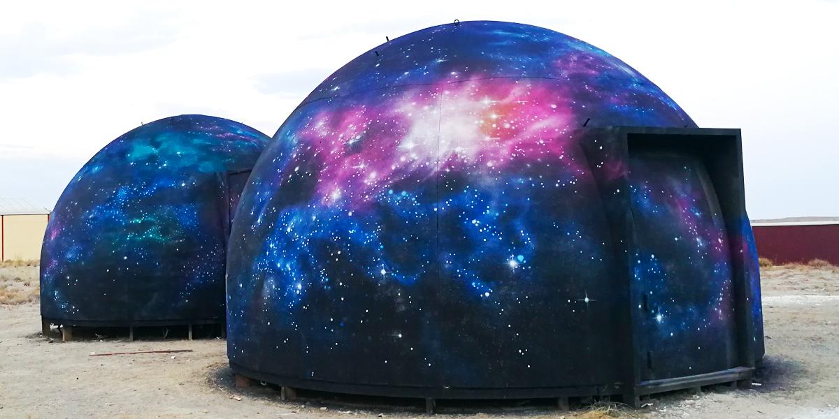 Mural de paisaje del espacio exterior
