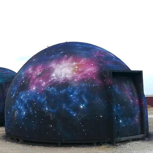 Mural paisaje espacial