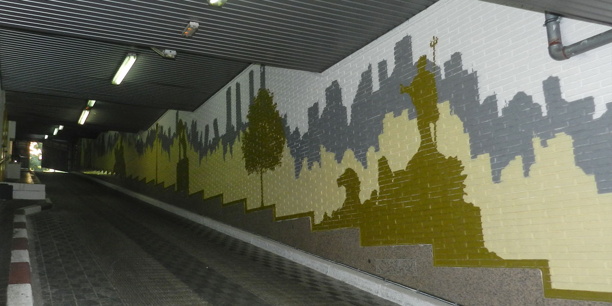Graffiti de Madrid en el parking del hotel Hesperia.