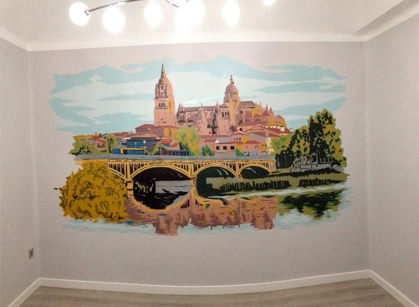 Mural artístico en Salamanca.