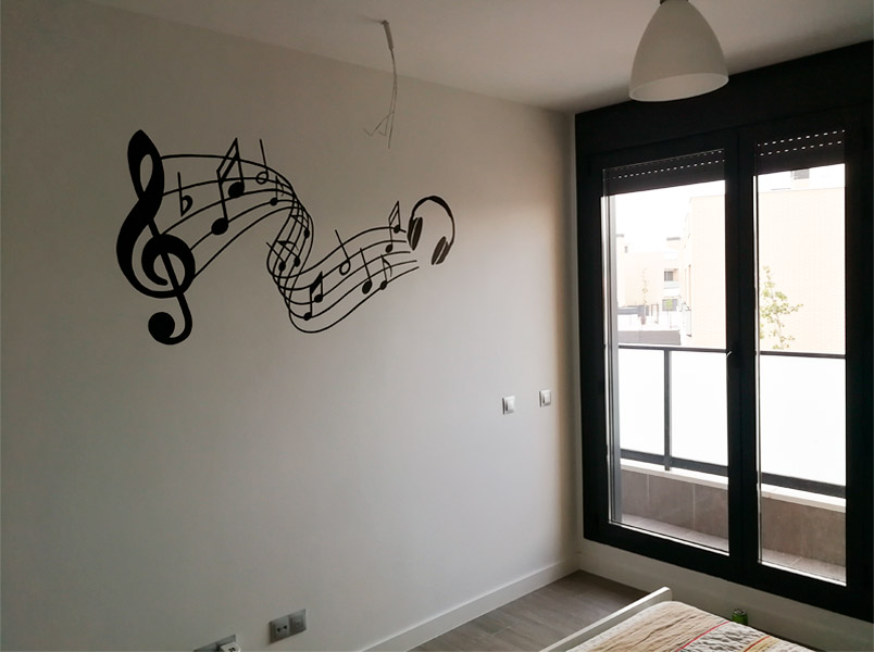 Mural musical en Madrid.