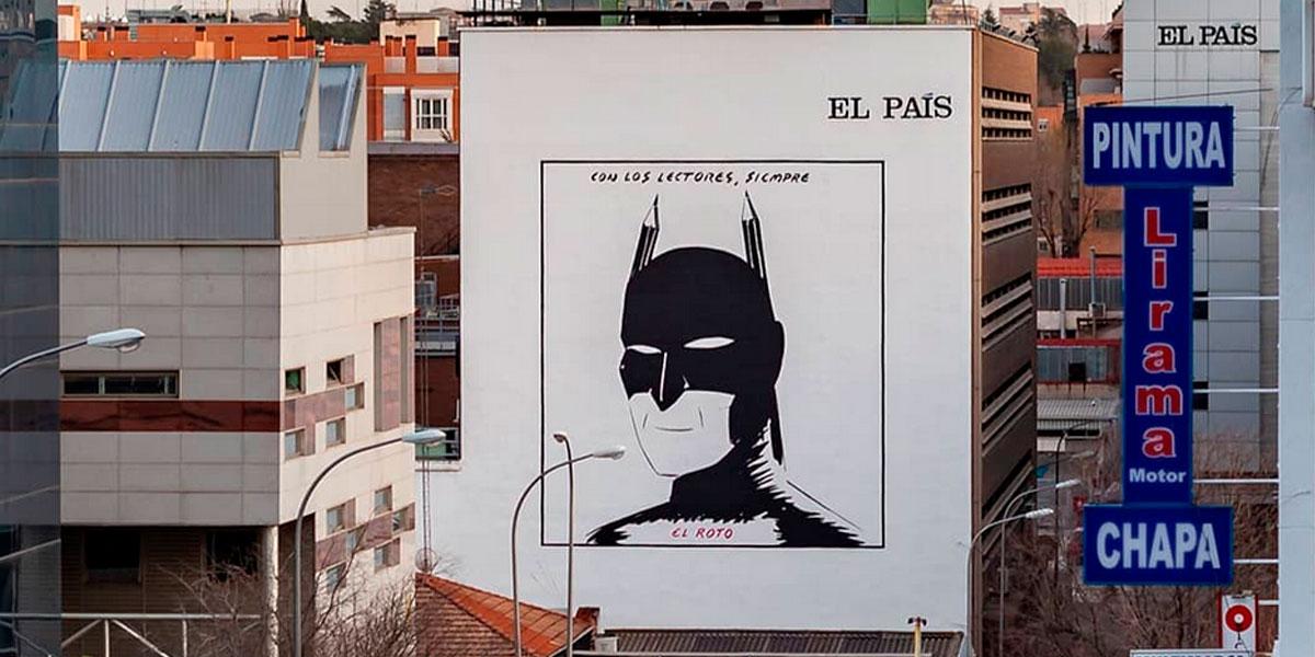 Graffiti homenaje a El Roto de El País.