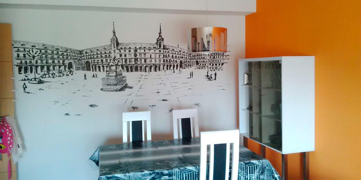 Mural decorativo de ilustración