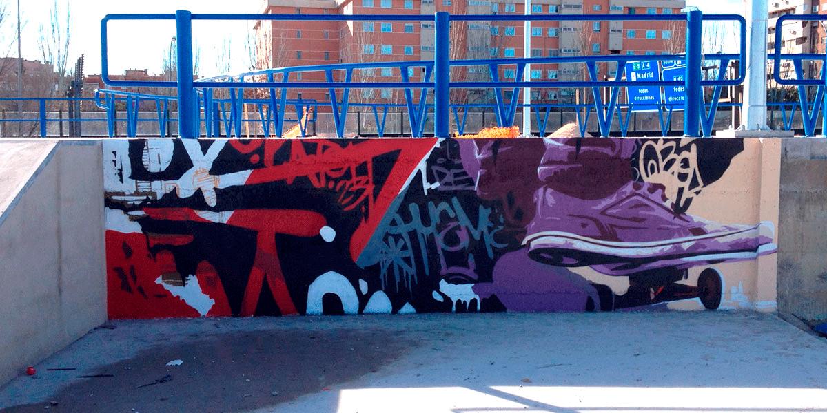 Graffiti en Madrid Río