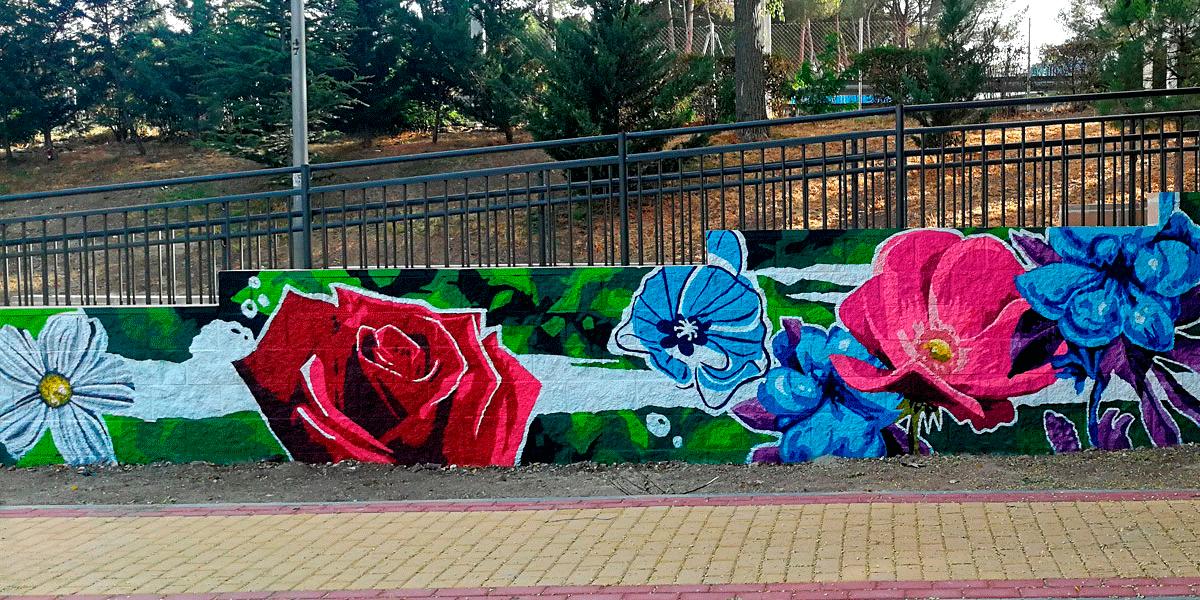 Mural artístico Madrid.